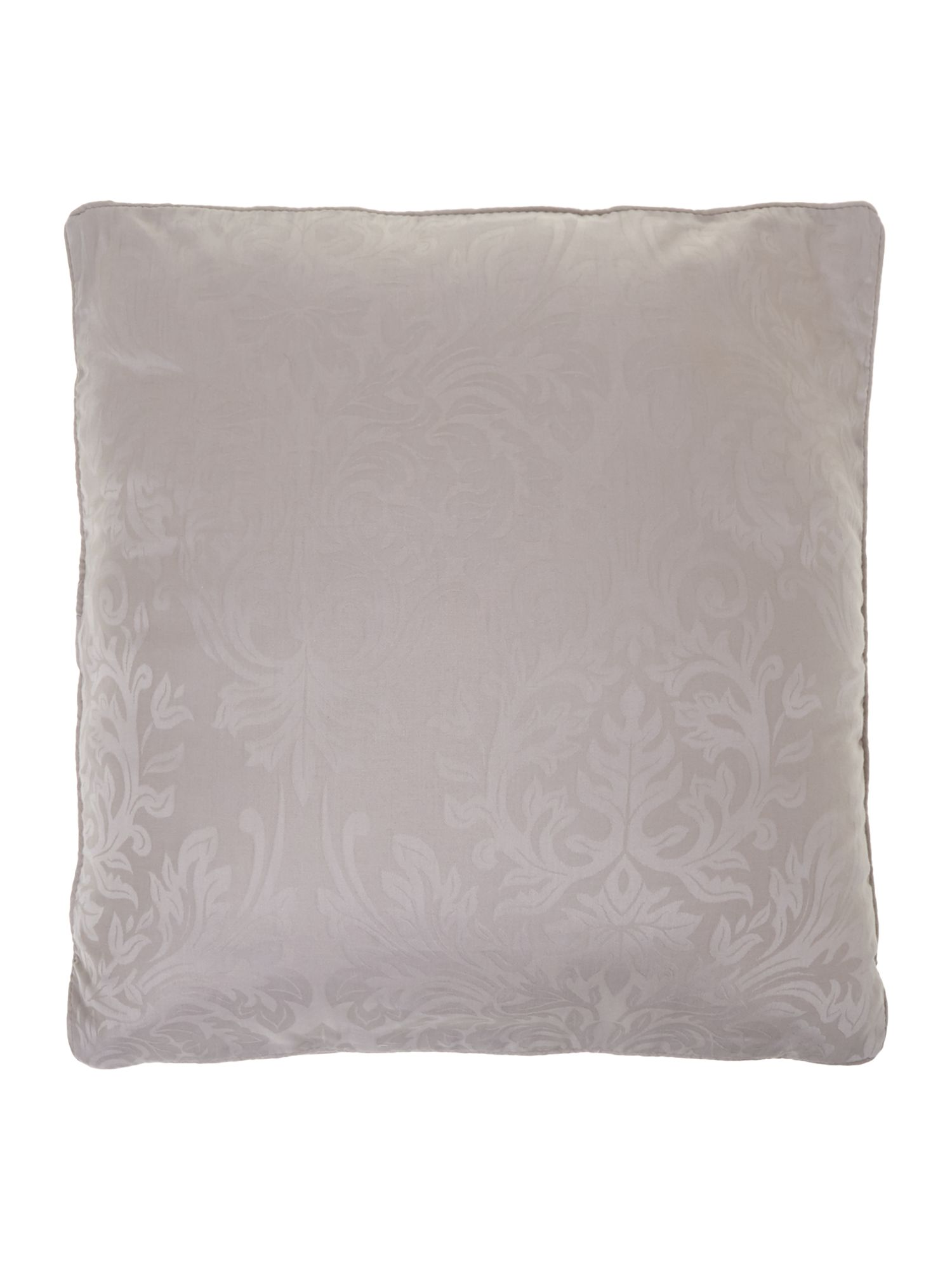 Lhc damask pair of filled cushions taupe