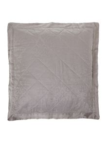 Lhc damask pair of euro pillow sham taupe