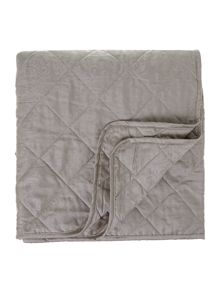 Damask quilted bedspread taupe