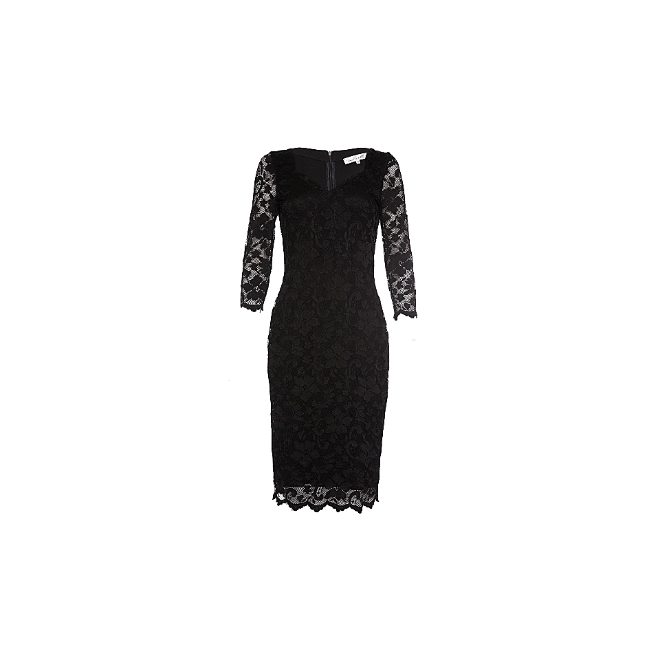 Damsel in a Dress Cassis Stretch Lace Tunic Dress Black