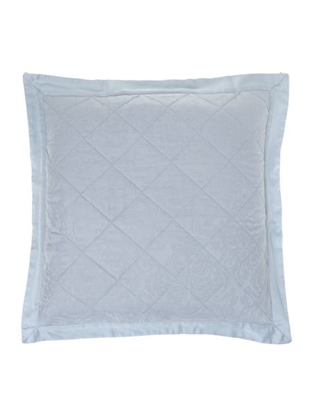 Luxury Hotel Collection Lhc damask pair of euro pillow sham soft blue