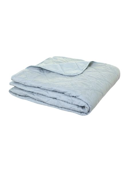 Luxury Hotel Collection Lhc damask quilted bedspread soft blue