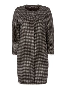 Campos micro print long line linen jacket