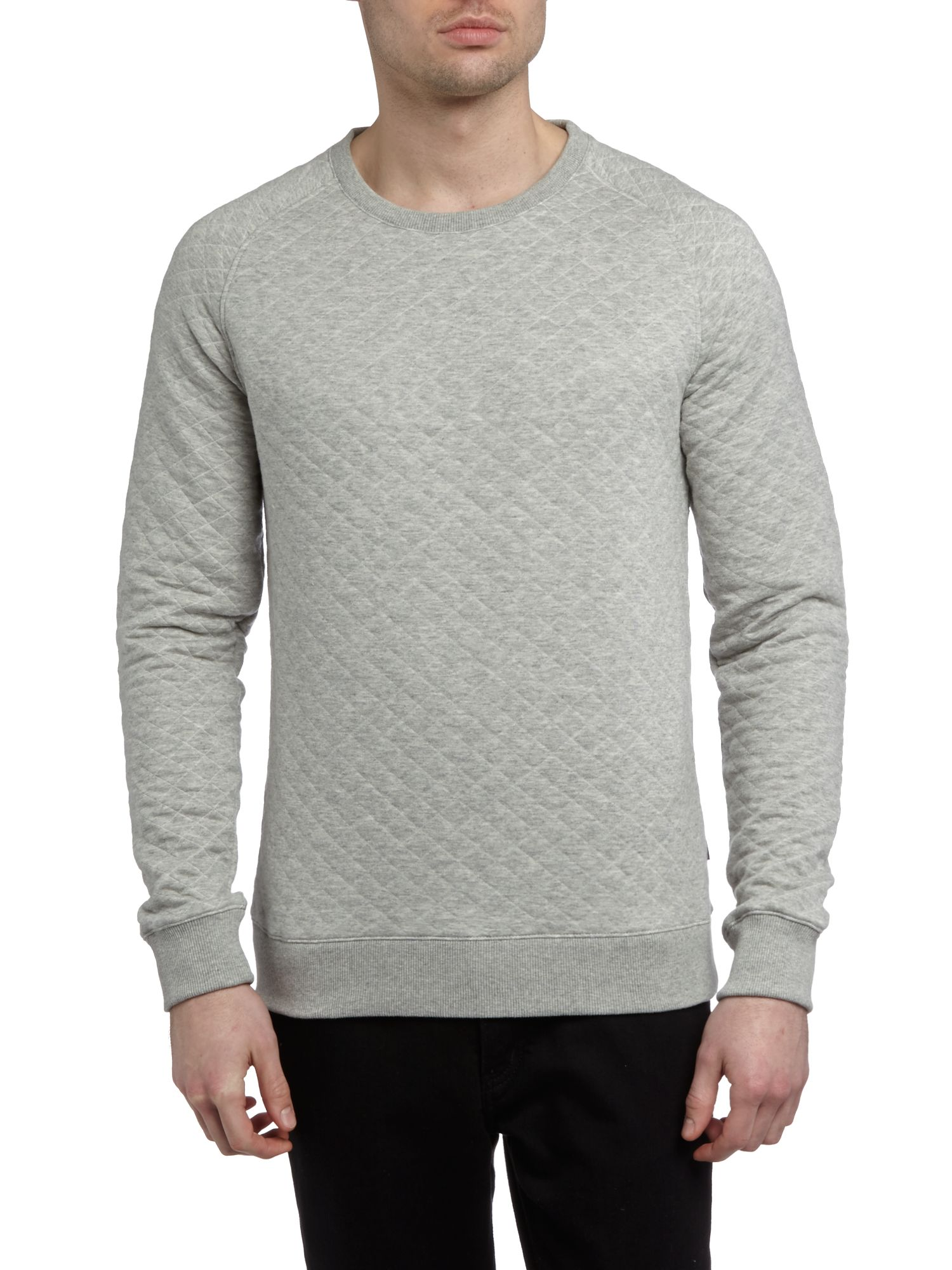 Crew neck quilted sweatshirt