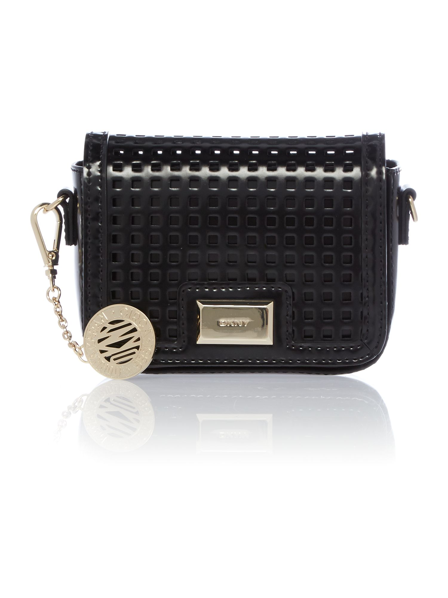 Hudson black mini crossbody bag