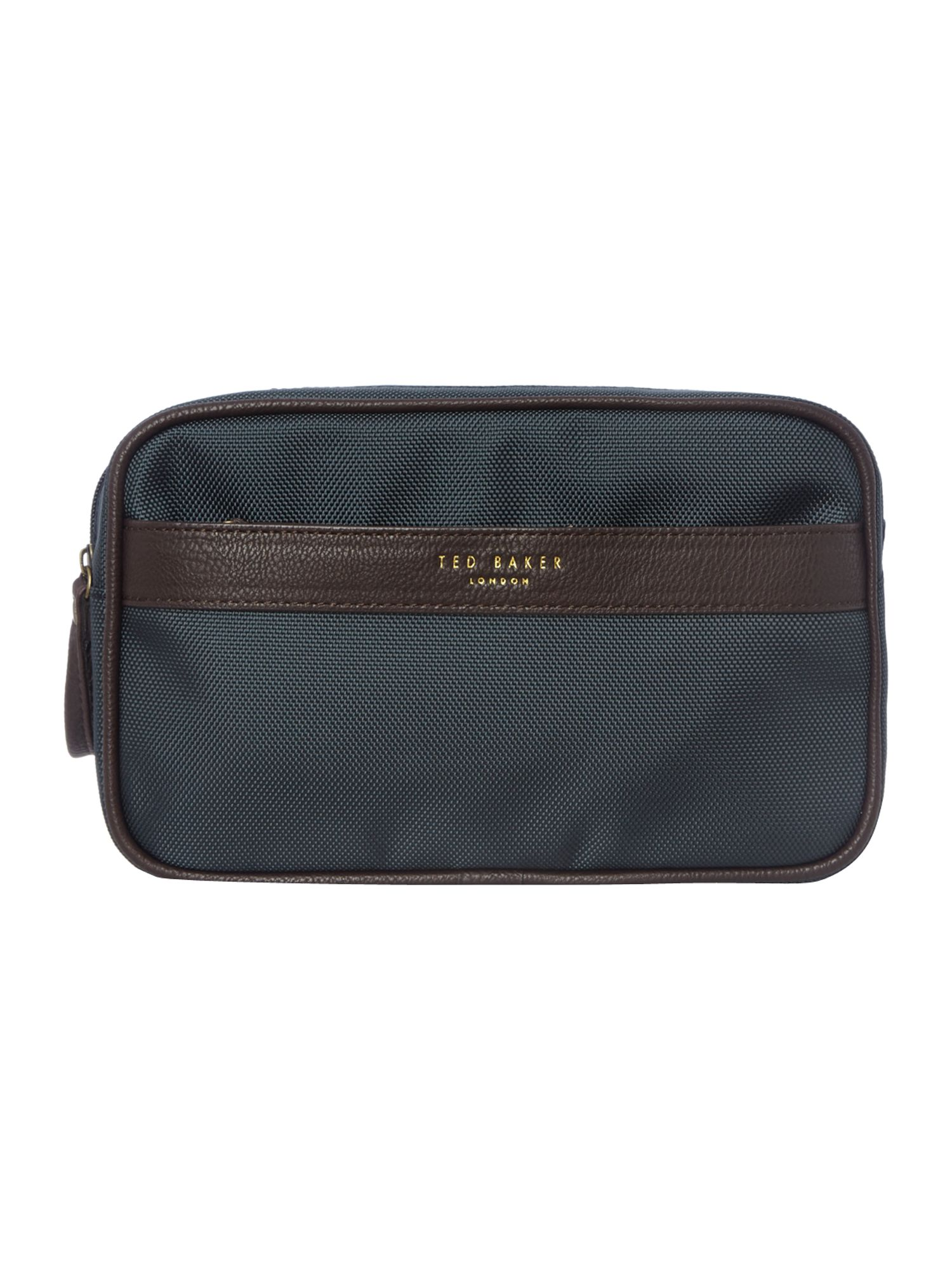 Nylon zip front wash bag
