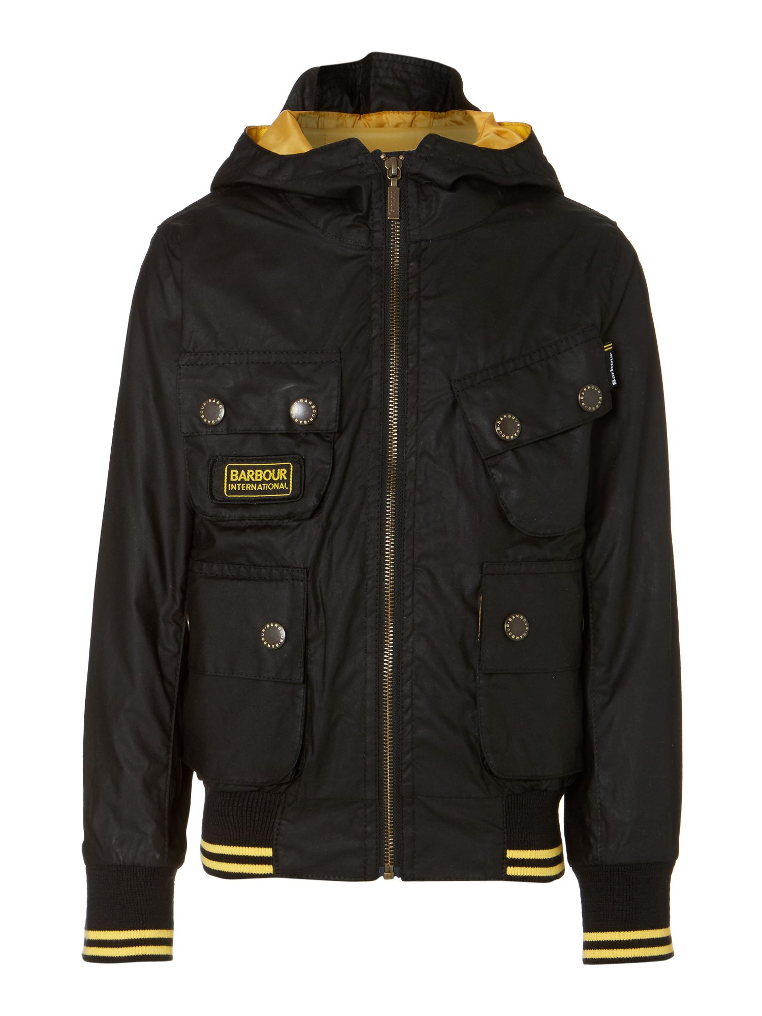 Boy's Glanton International waxed bomber jacket