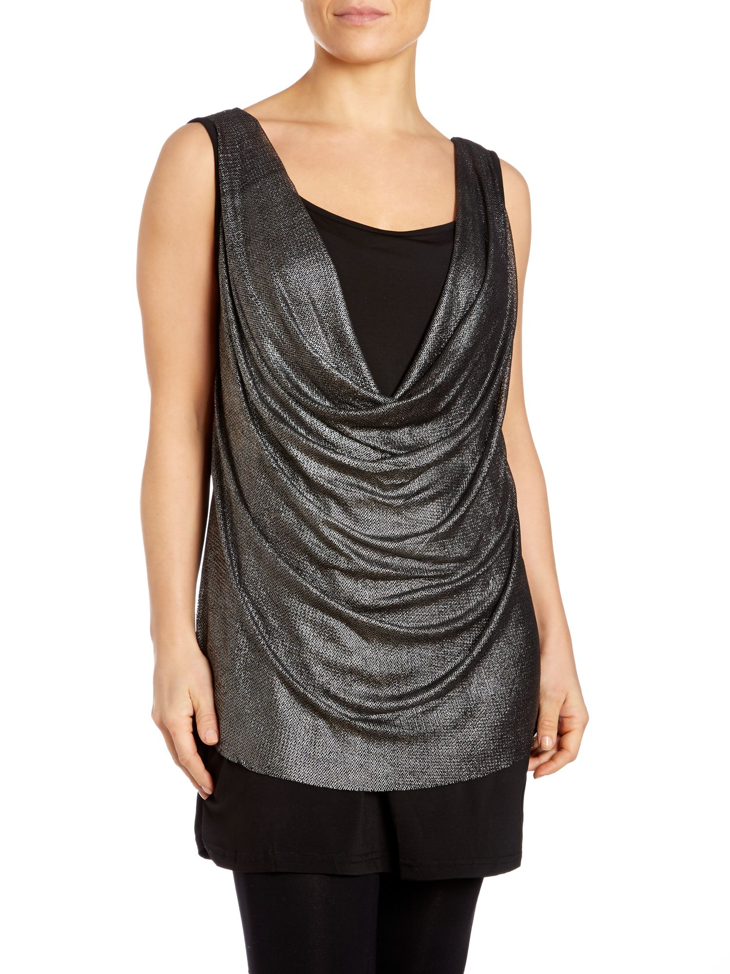 Metallic weave vest top