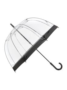 Birdcage umbrella with plain border