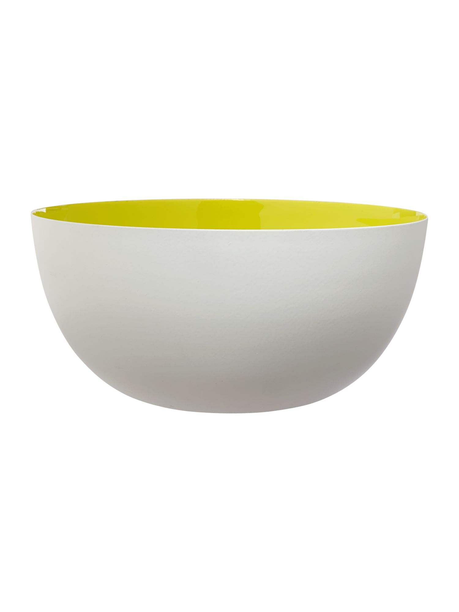 Lime enamel salad bowl