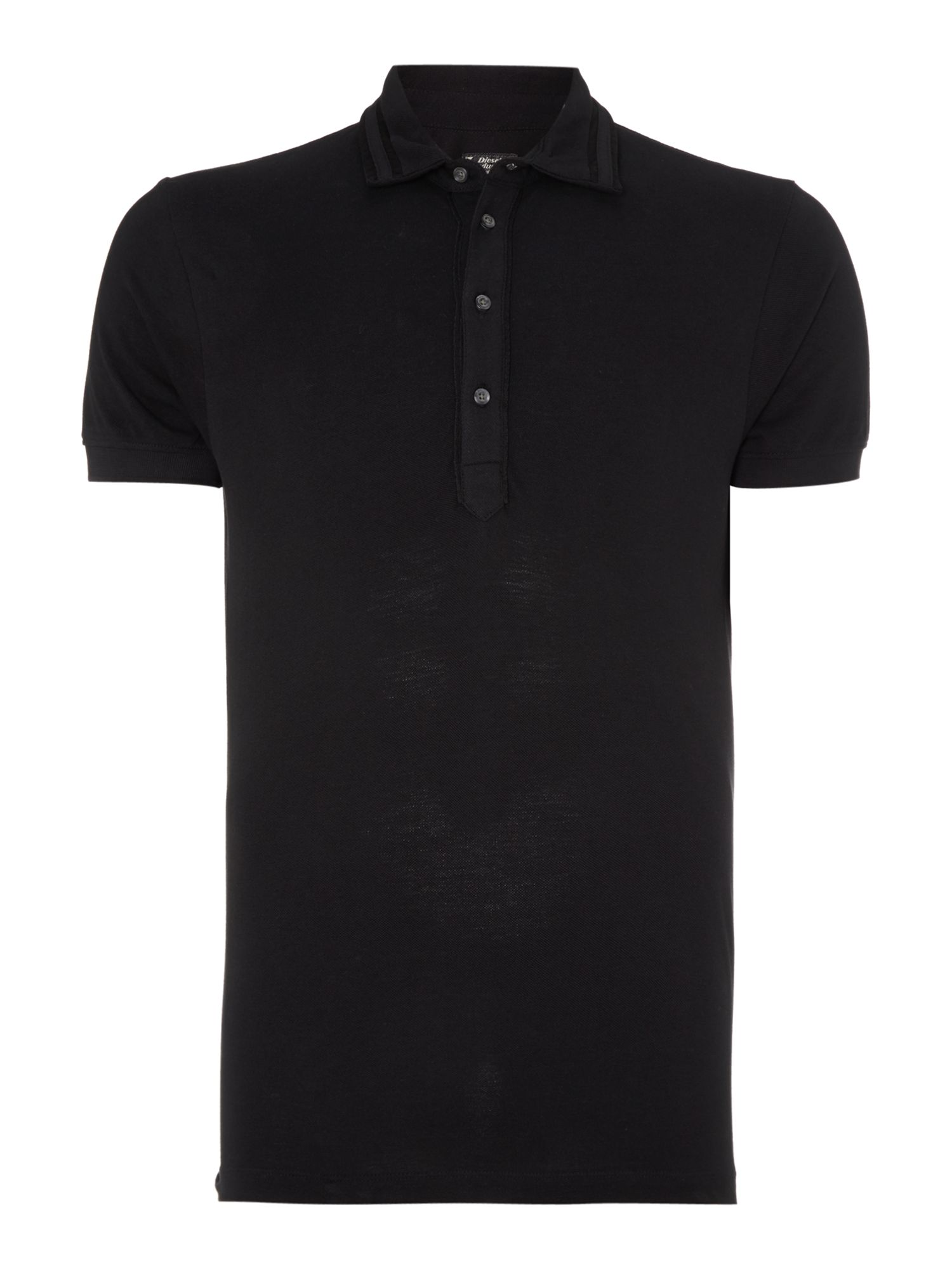 Collar trim polo shirt