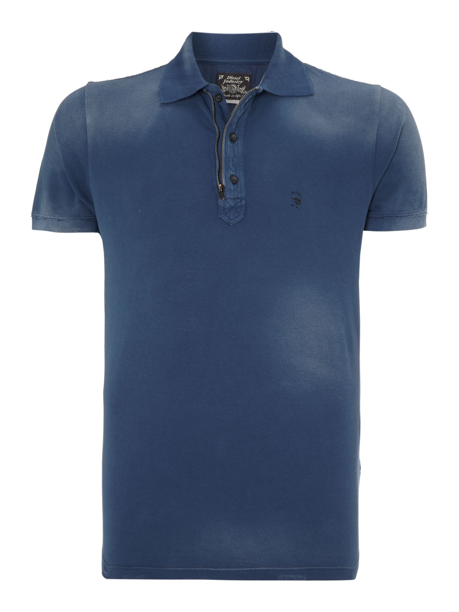 Zip collar polo shirt