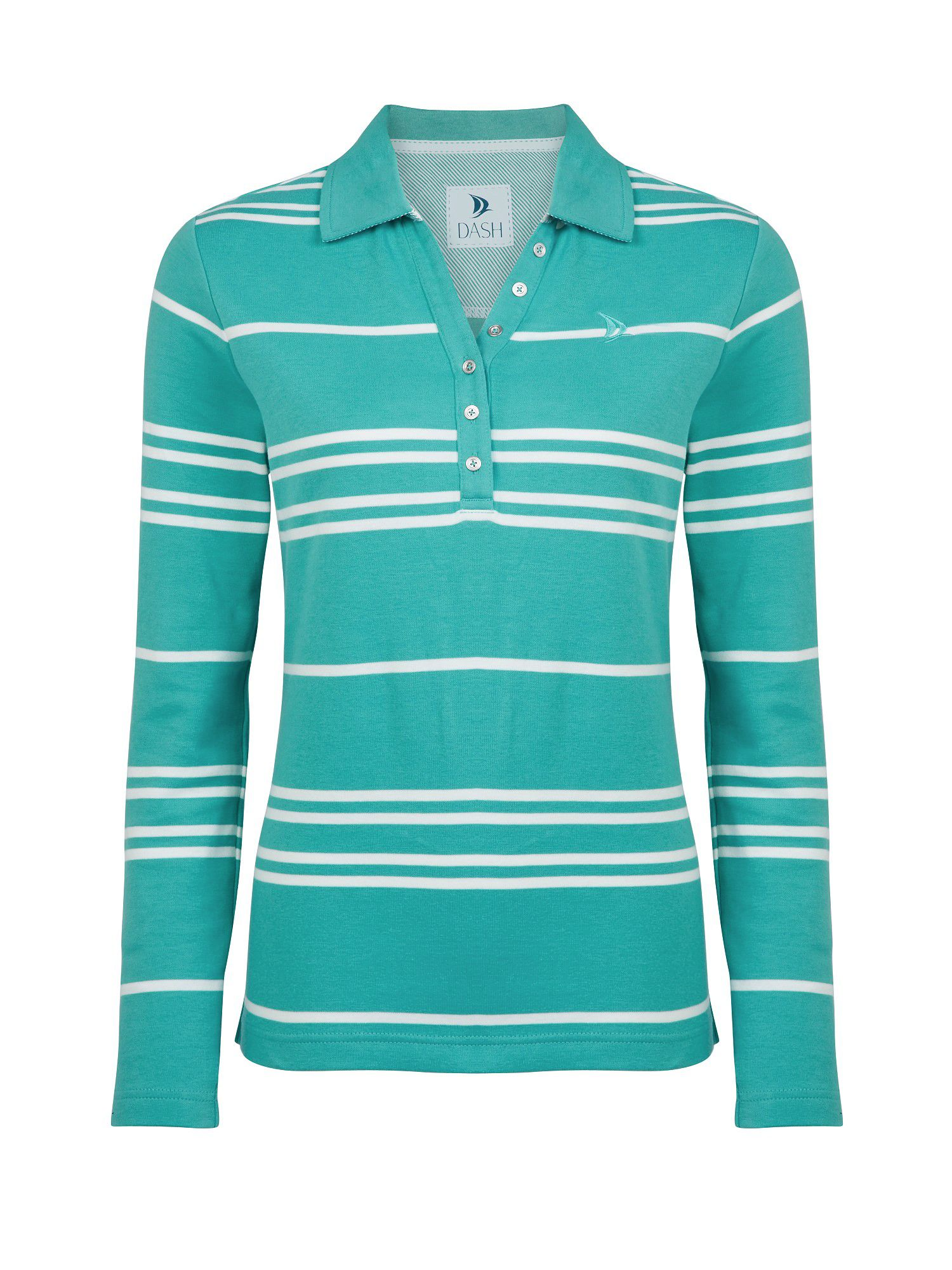 Long sleeved stripe rugby top