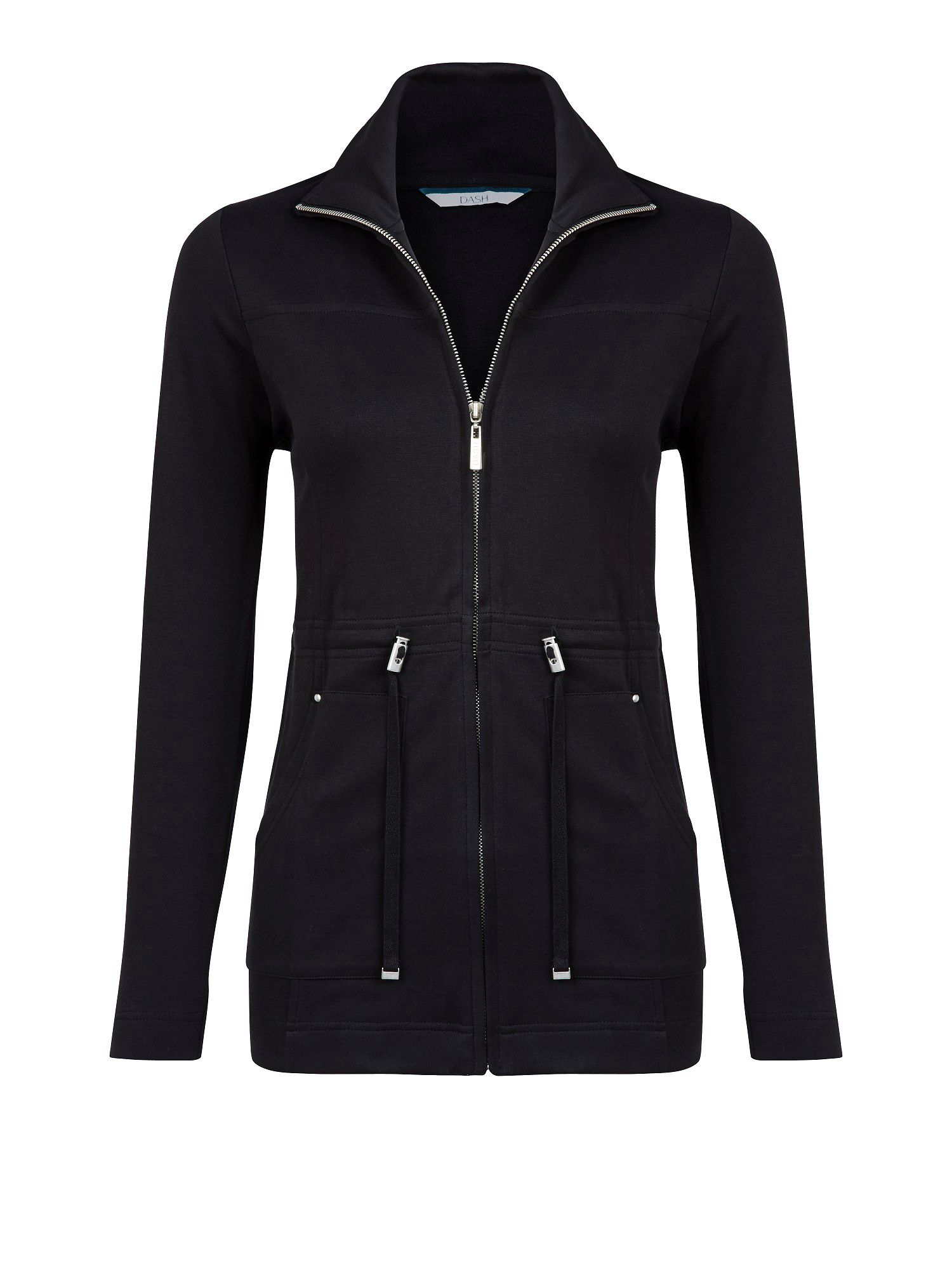 Black interlock jacket