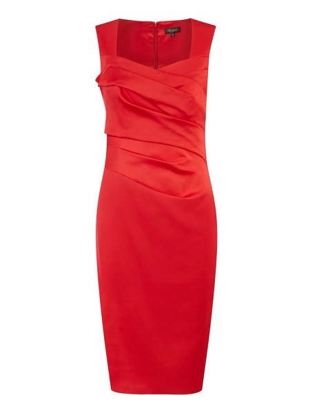 Alexon Red sexy sateen dress