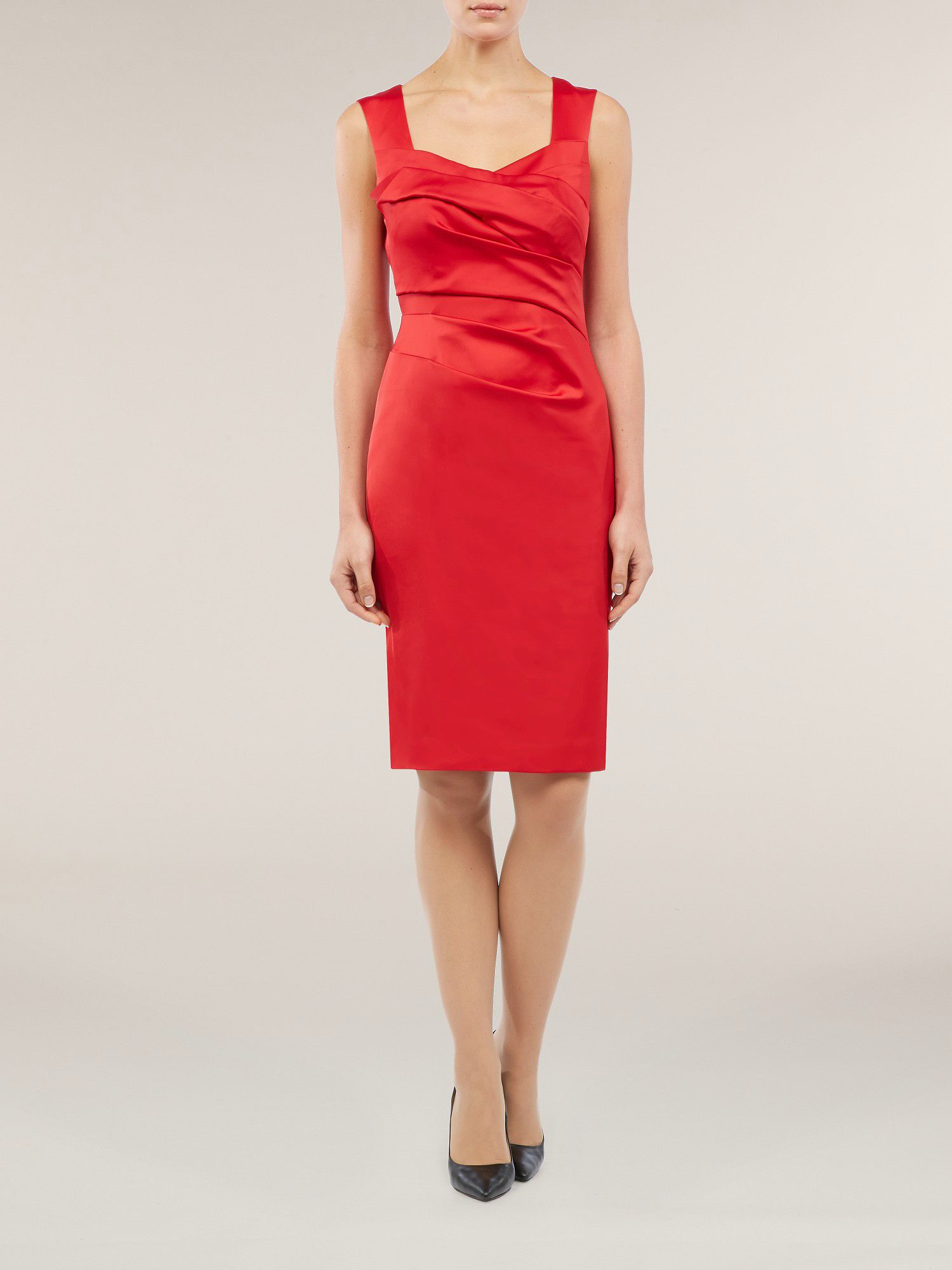 Red sexy sateen dress
