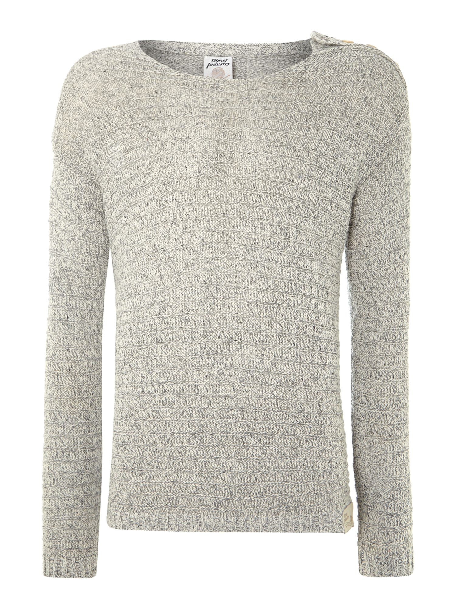 Linen mix knitted sweatshirt