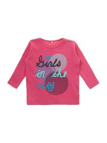 Girls city slogan t-shirt