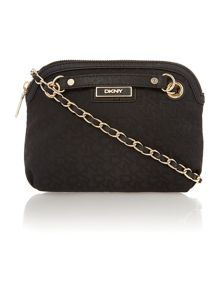 Saffiano black small crossbody bag