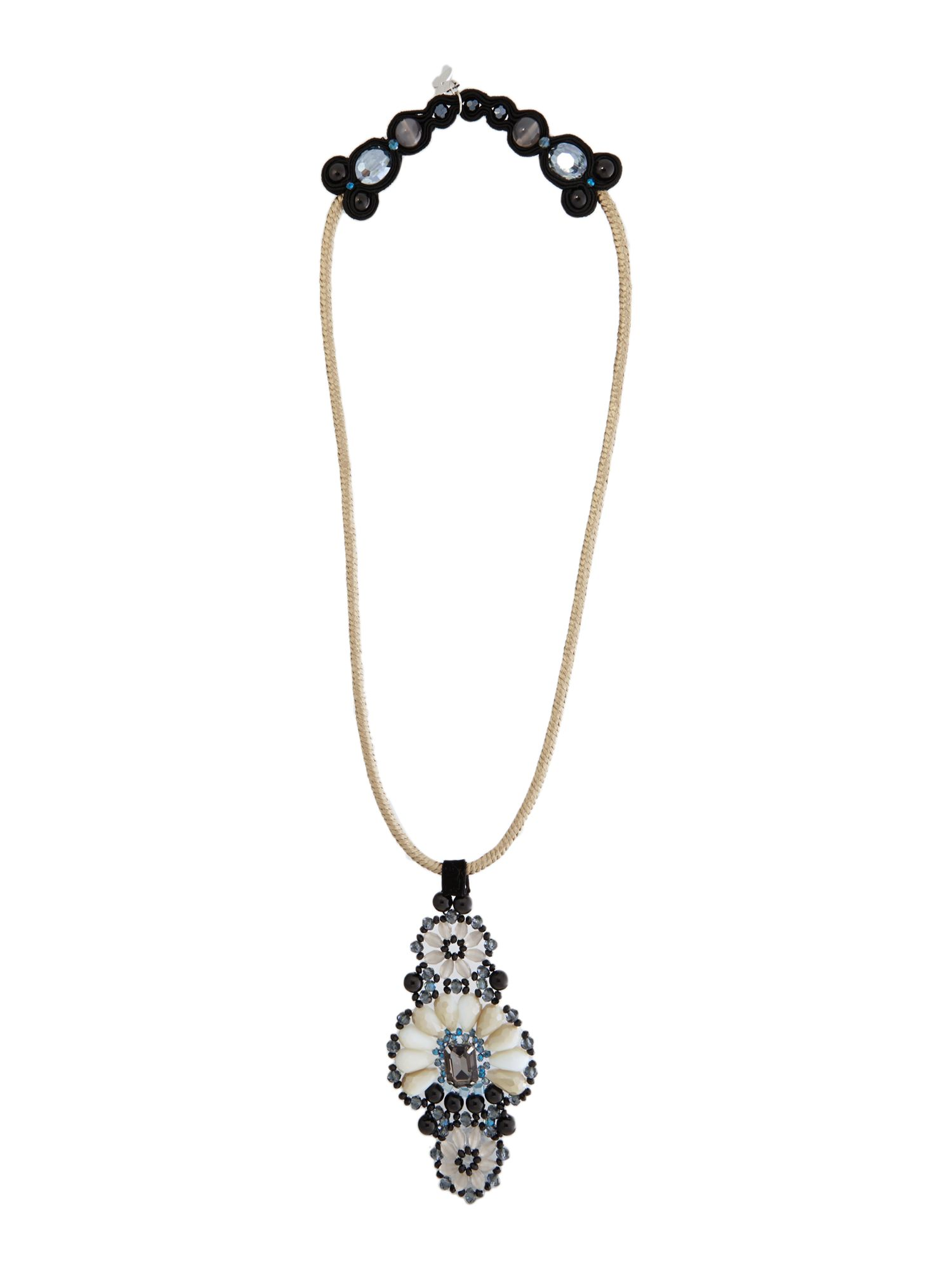 Blasy long jewelled necklace