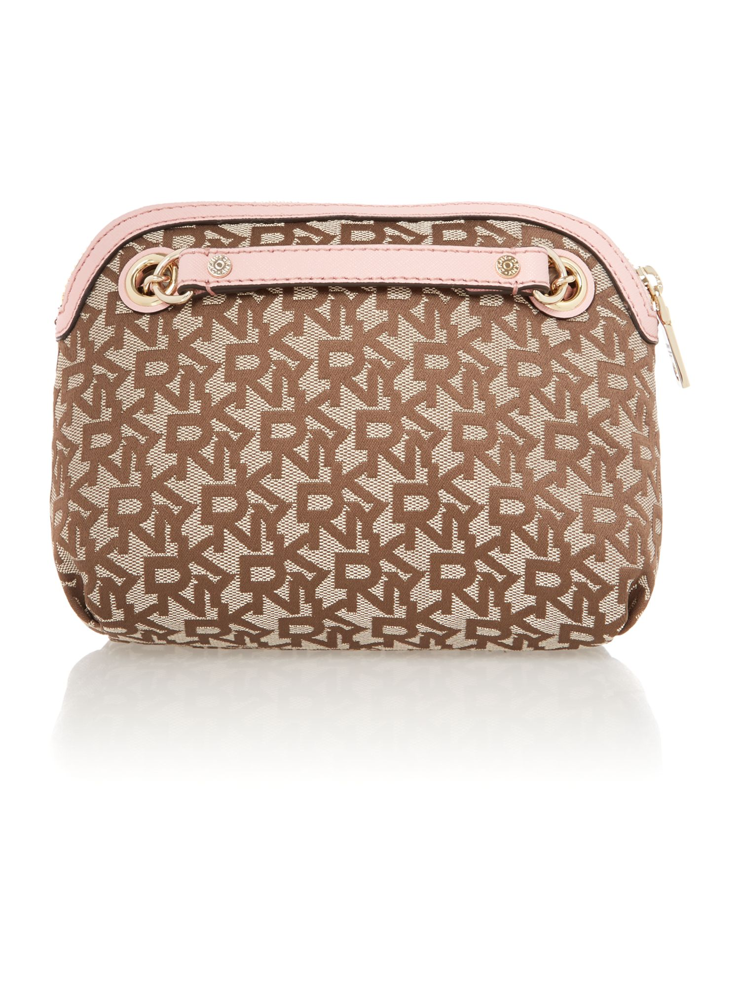 Saffiano pink small crossbody bag