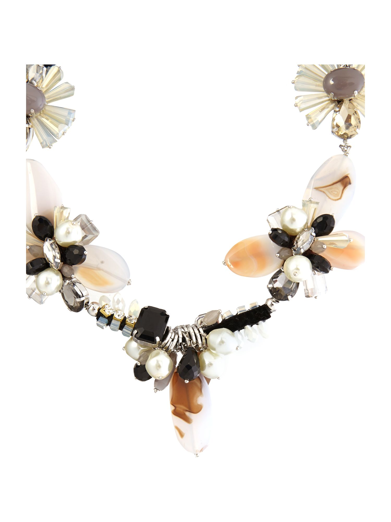 Alcade short jewelled necklace