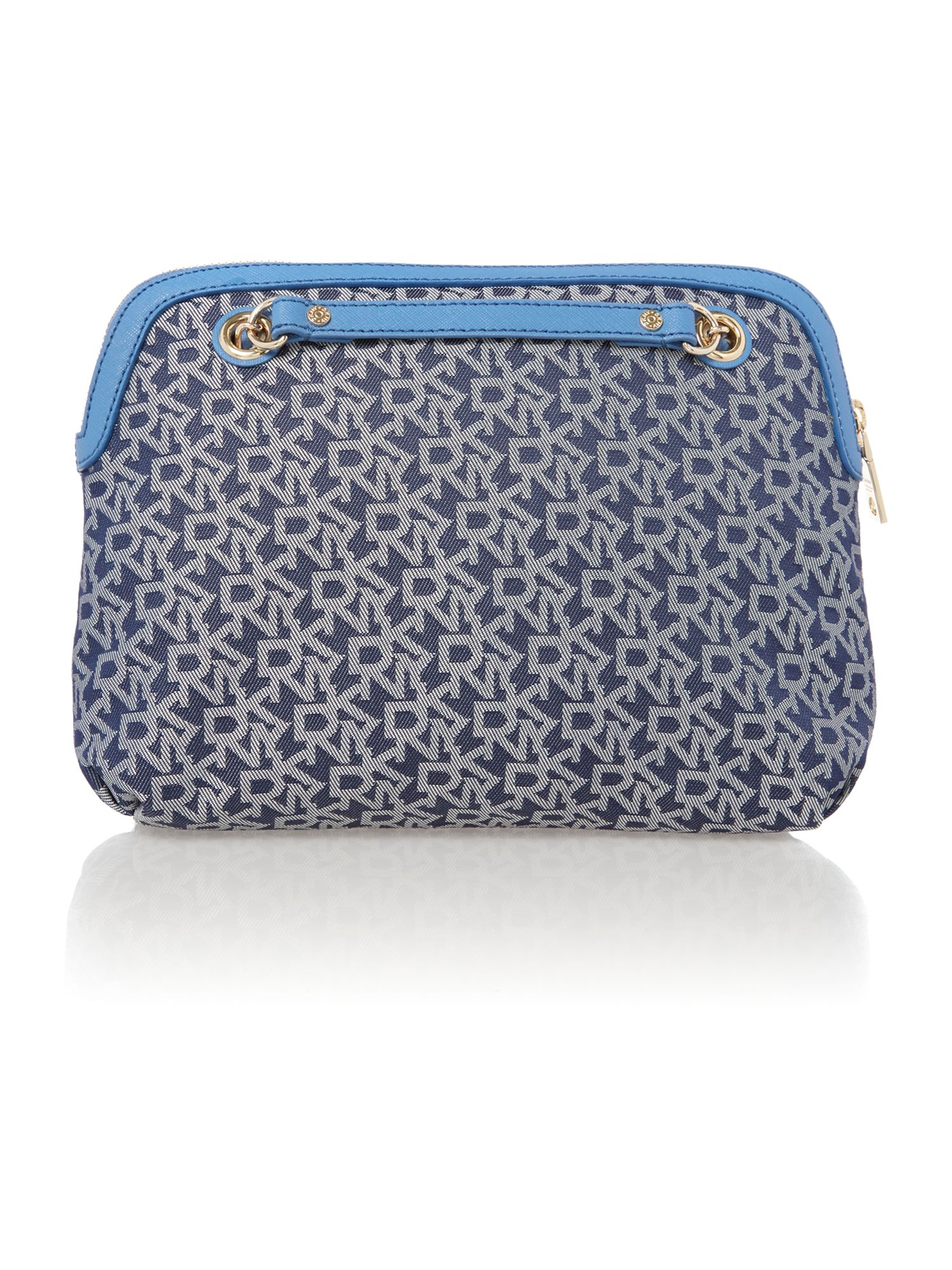 Saffiano blue medium crossbody bag