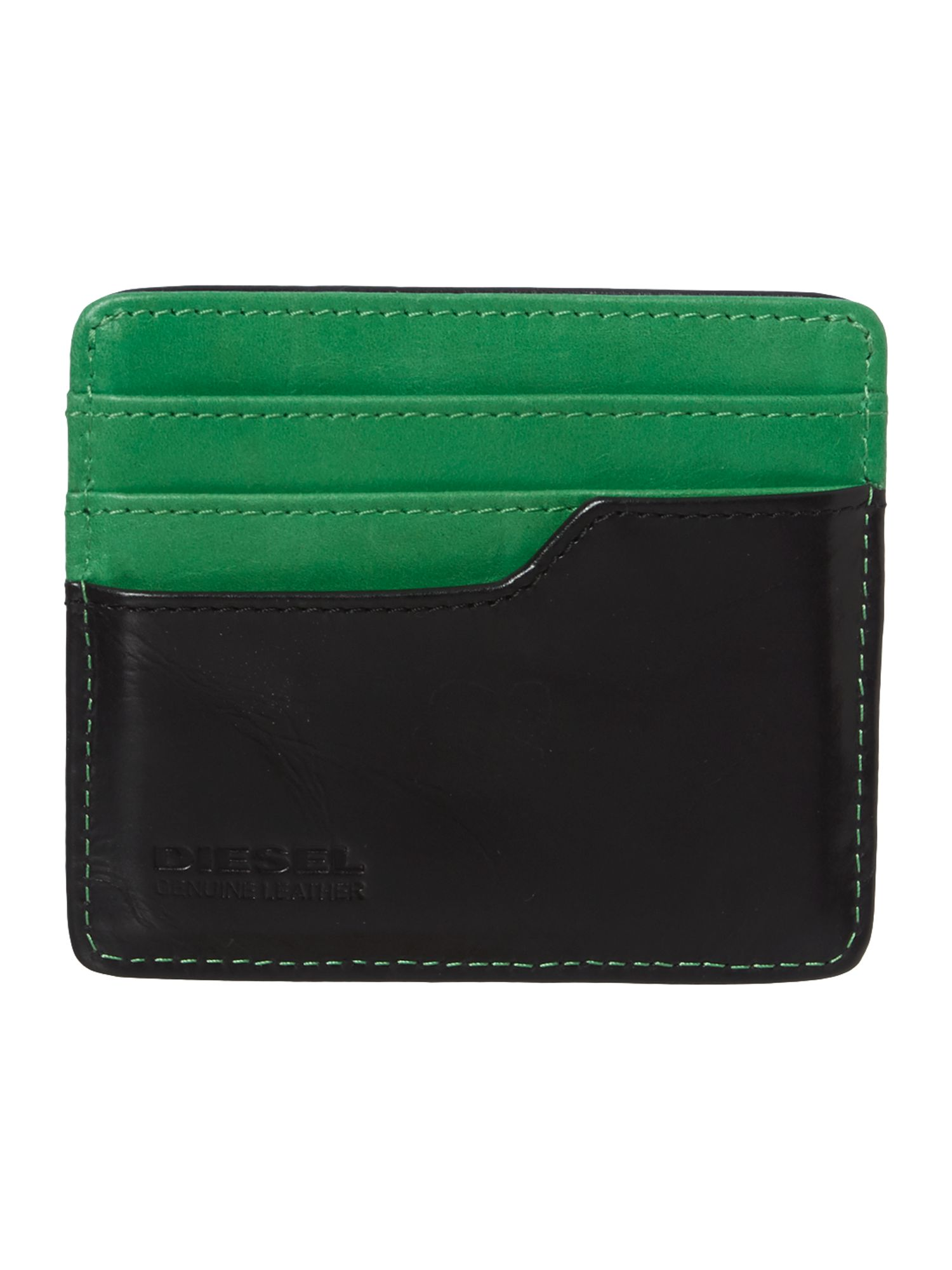 Green contrast jonas card holder