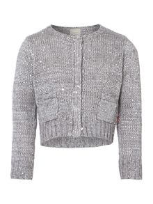 Girls sparkle knit cardigan