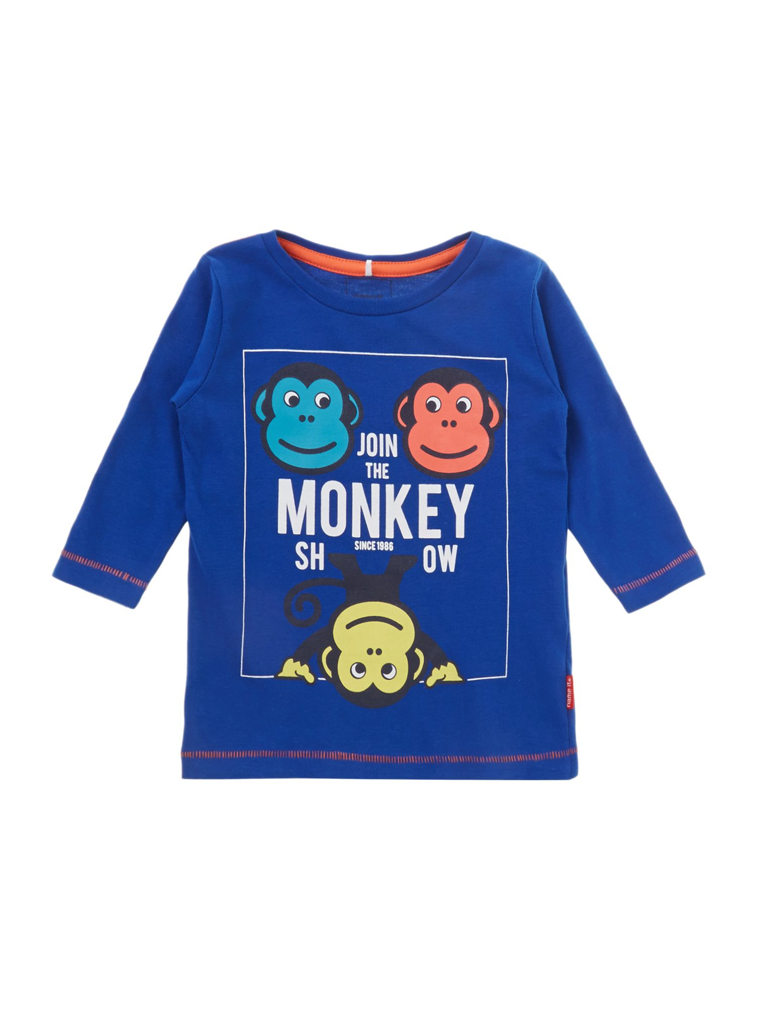 Boy`s monkey show t-shirt