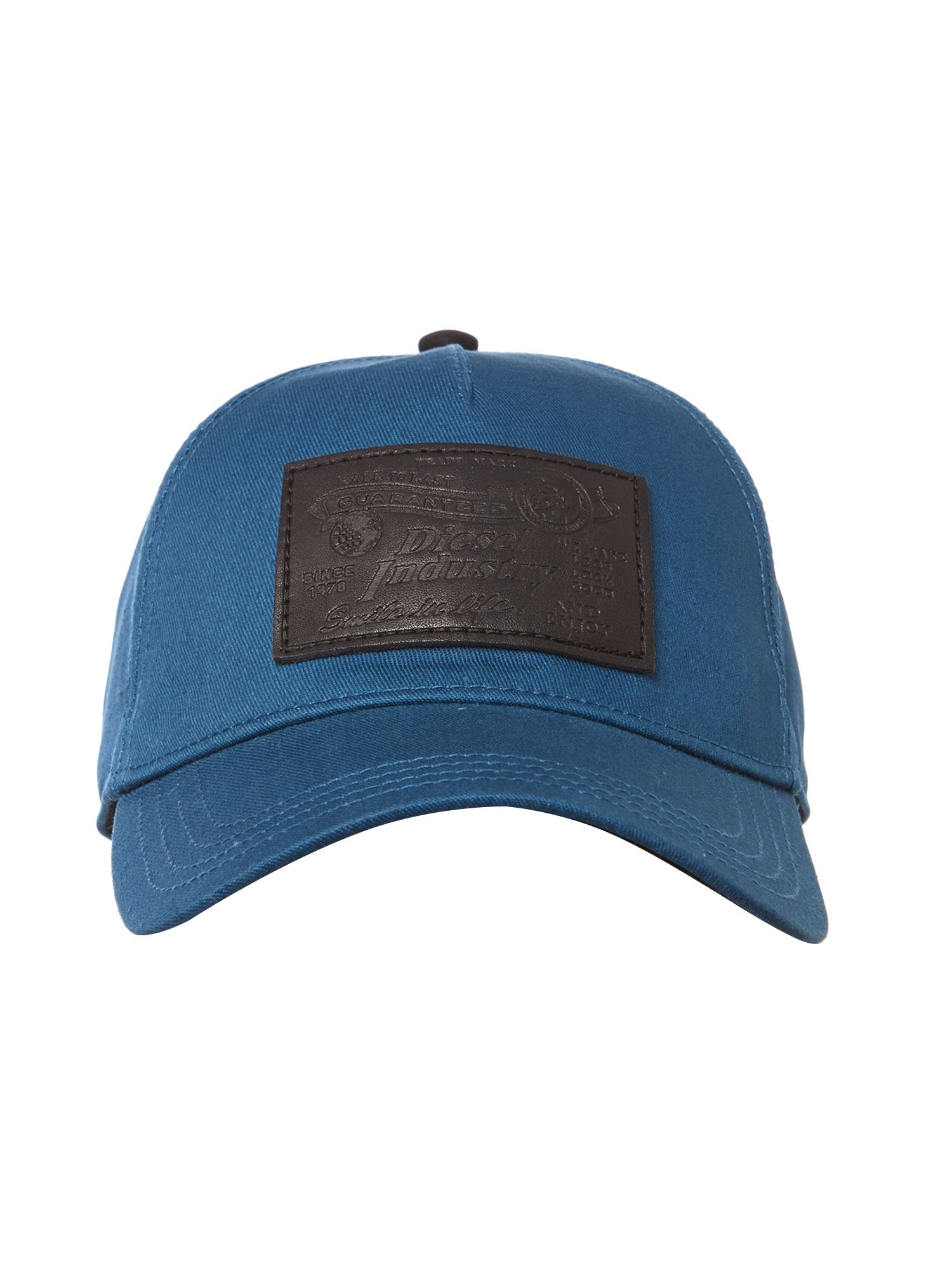 Leather logo chariel cap