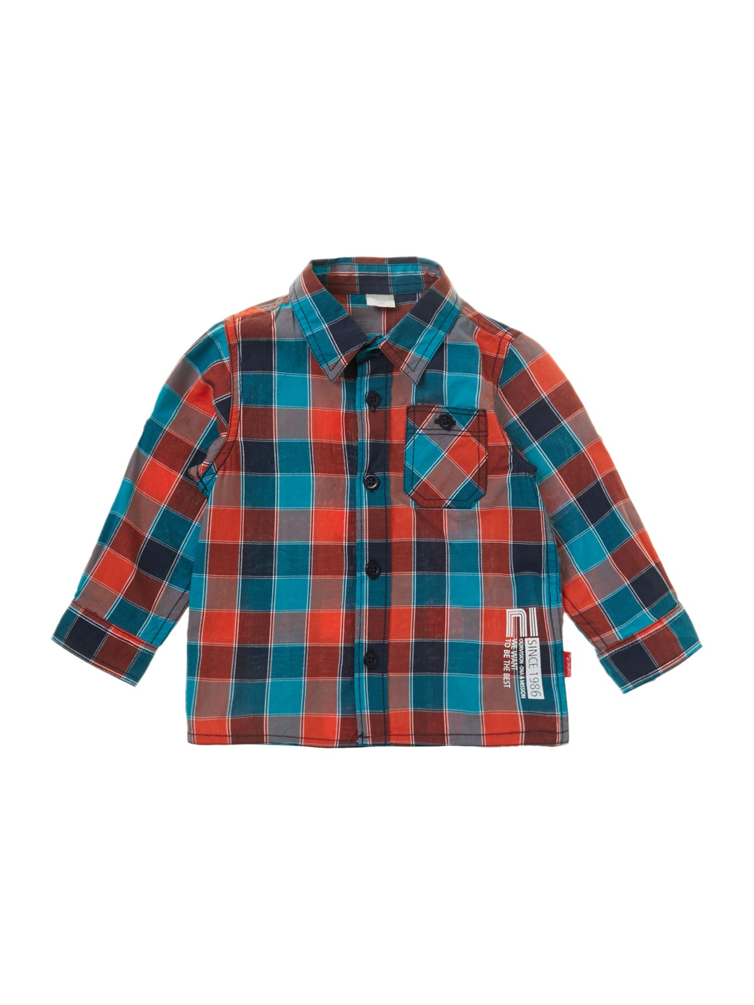 Boy`s multi check shirt