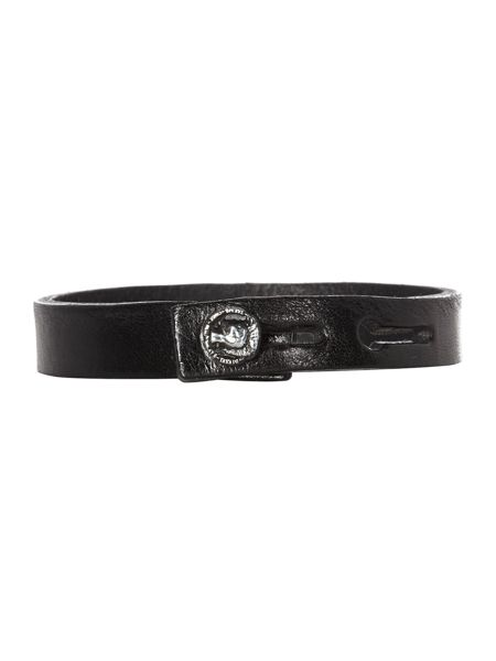 Diesel Leather amosto thin bracelet