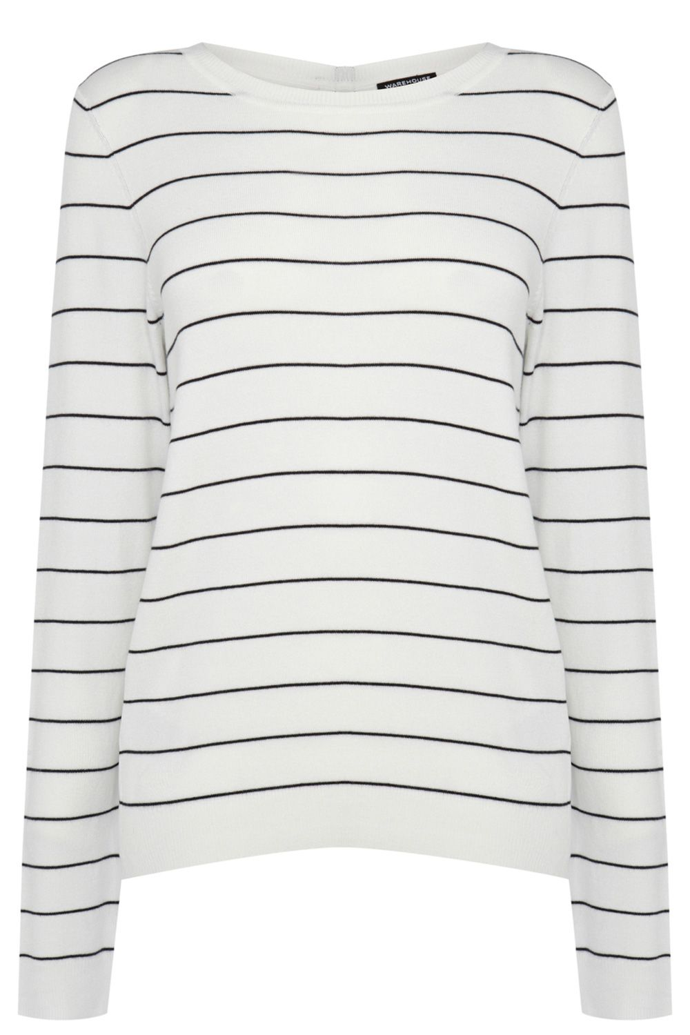 Pin stripe crew sweater