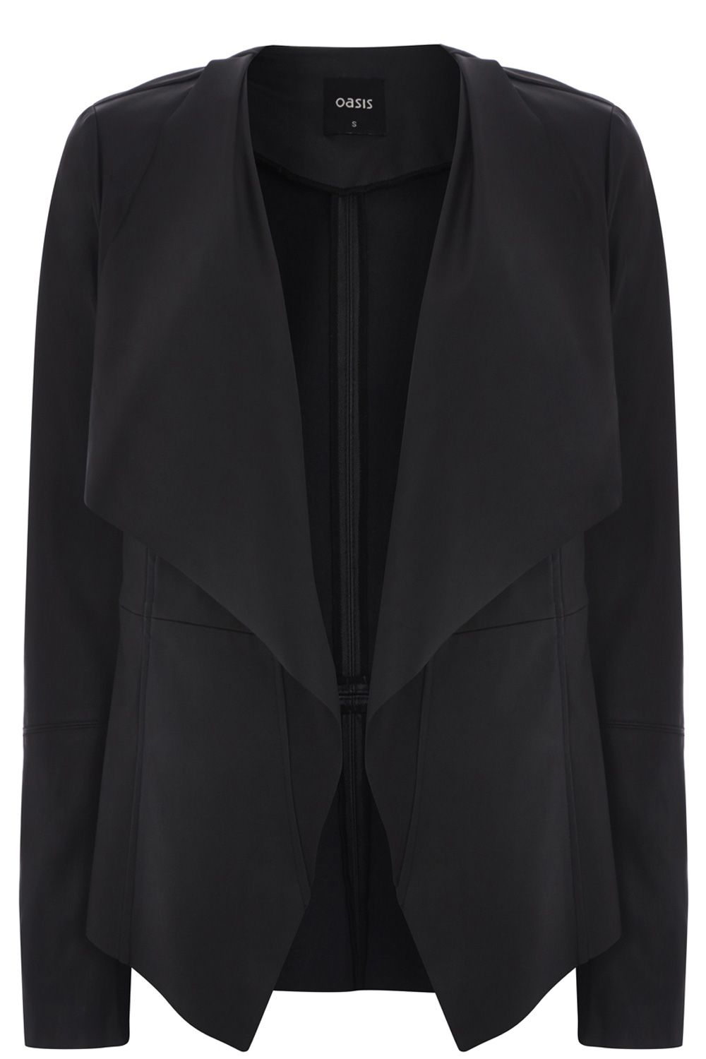 Waterwall drape coat