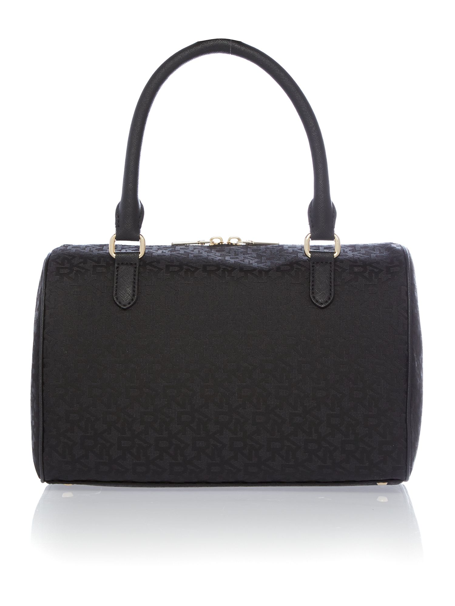 Saffiano black bowling bag
