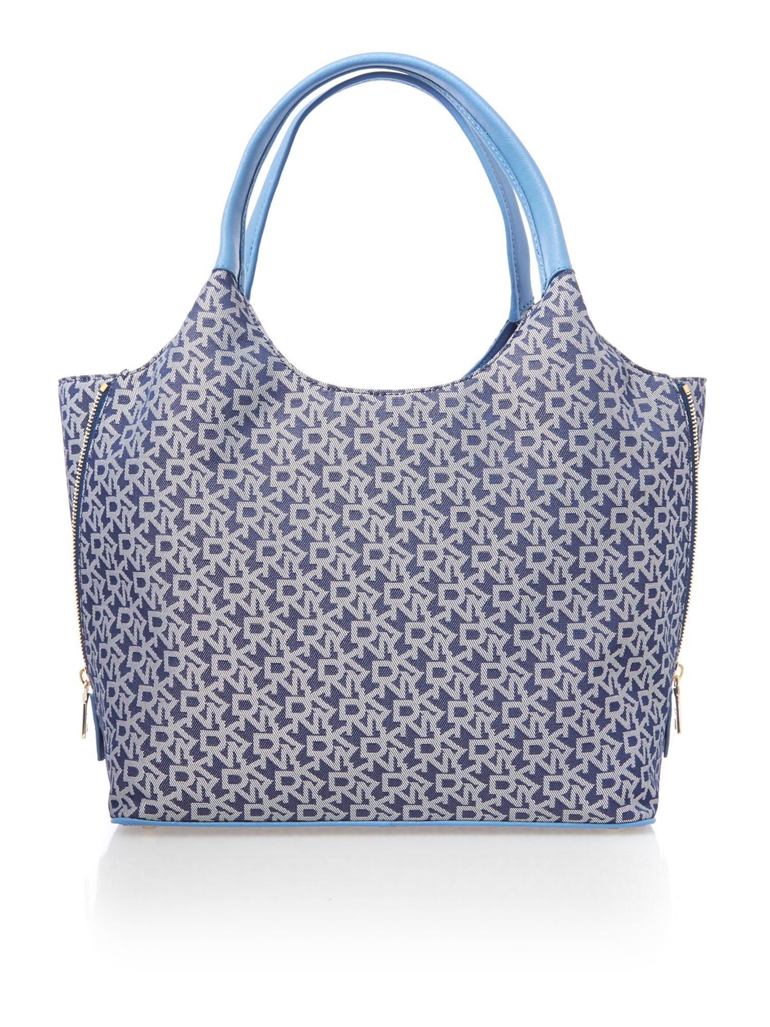 Saffiano blue tote bag
