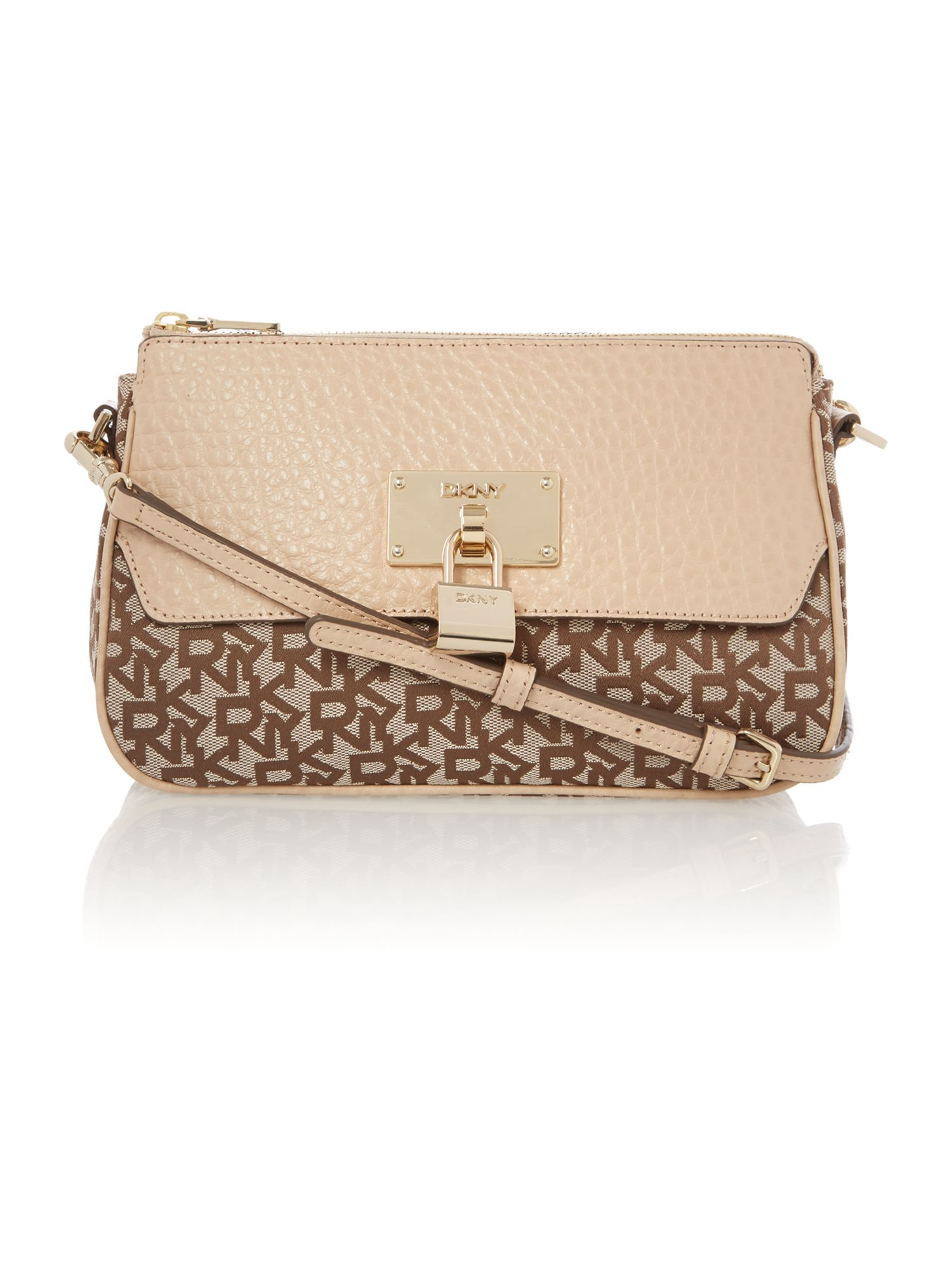 French grain tan crossbody bag