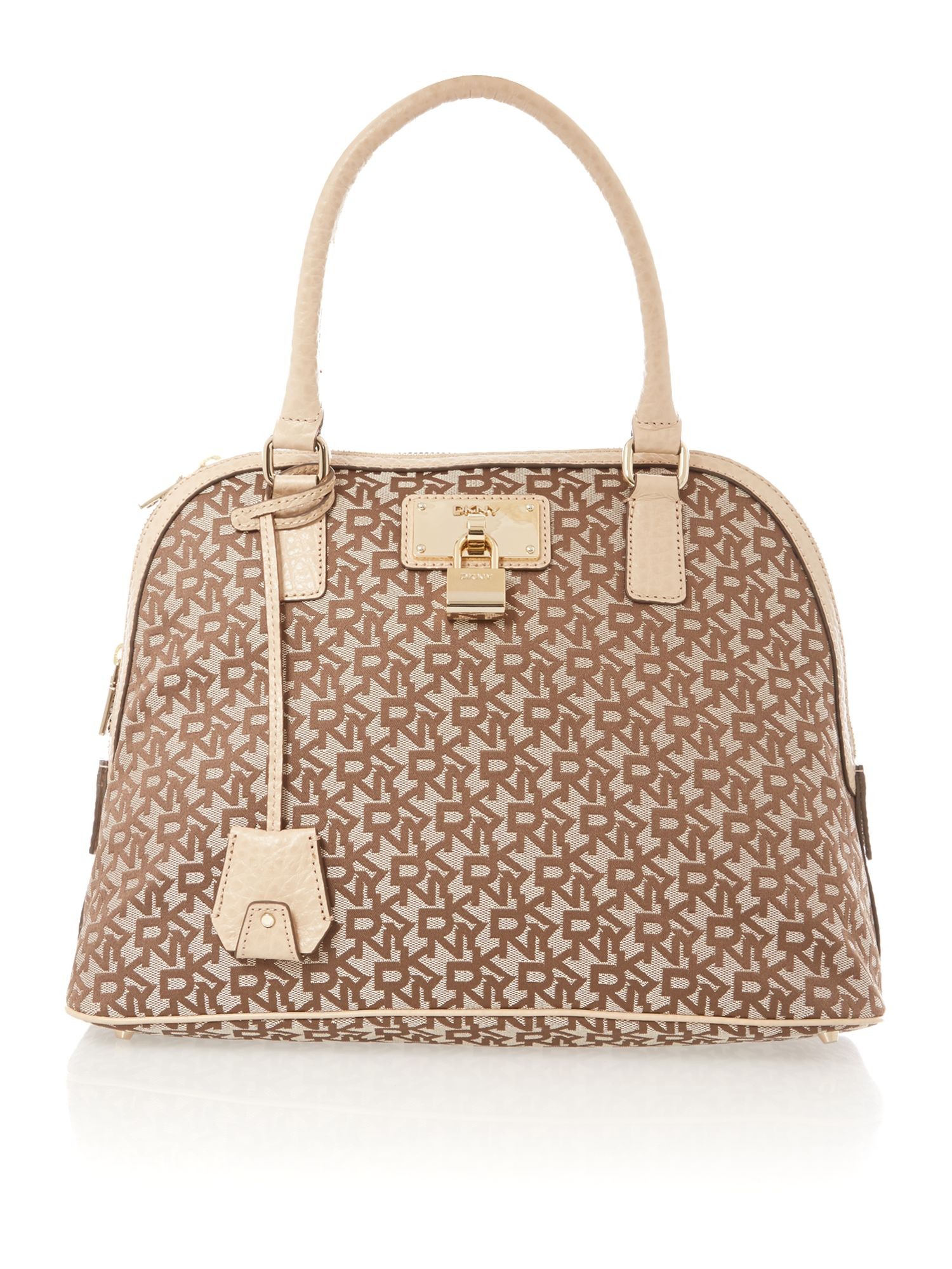 French grain tan dome bag