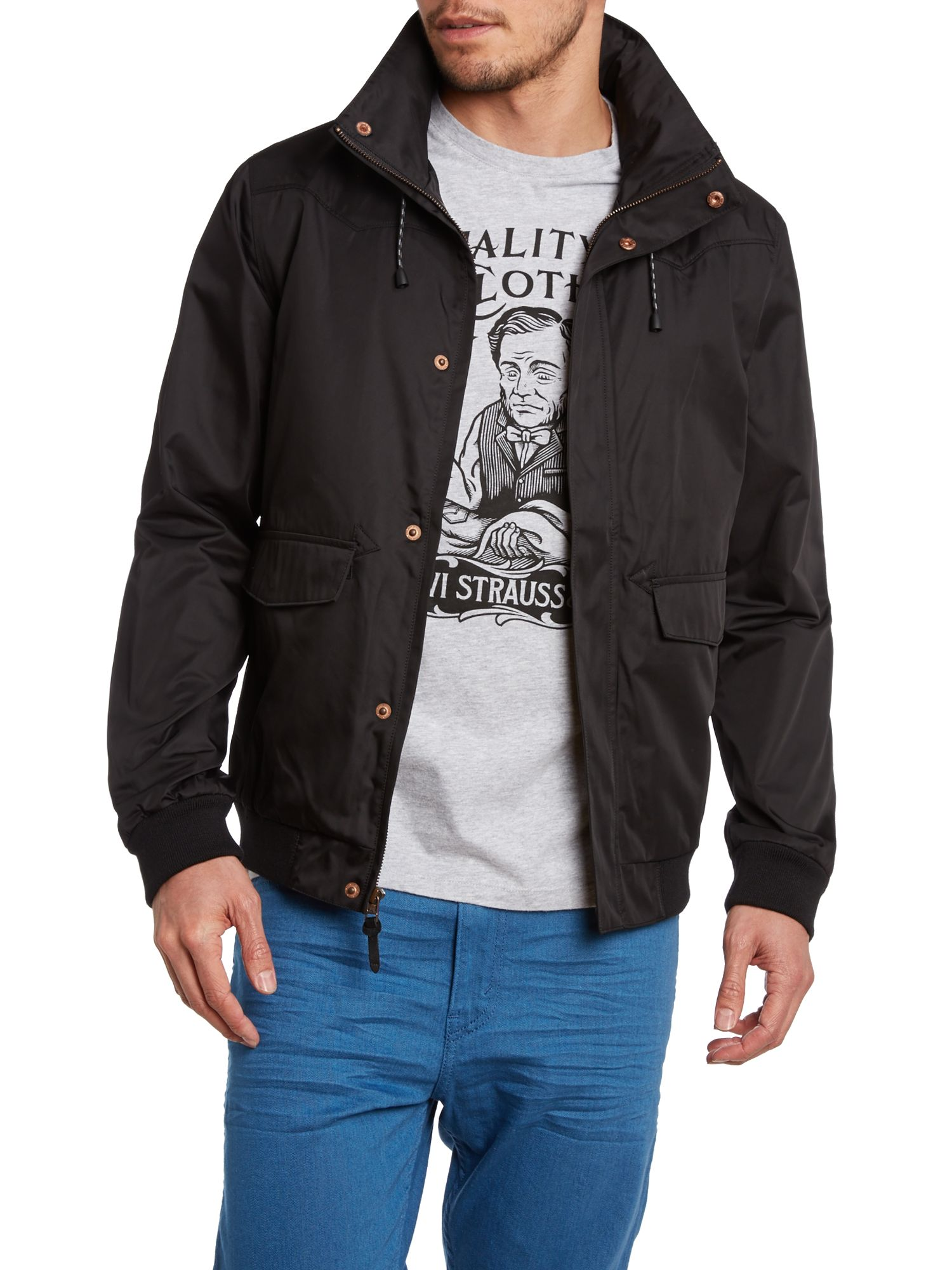 Two pocket windbomber jacket