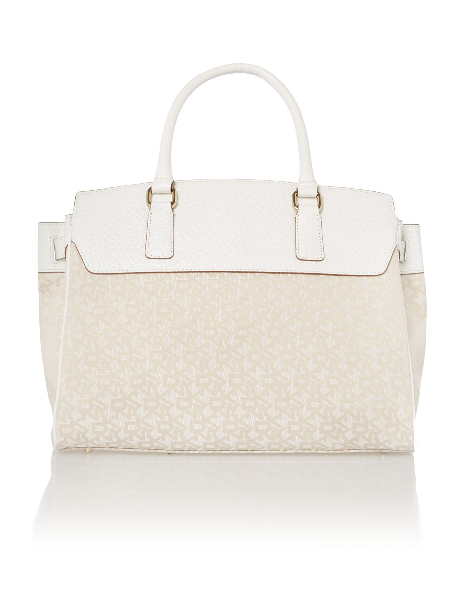 French grain white tote bag