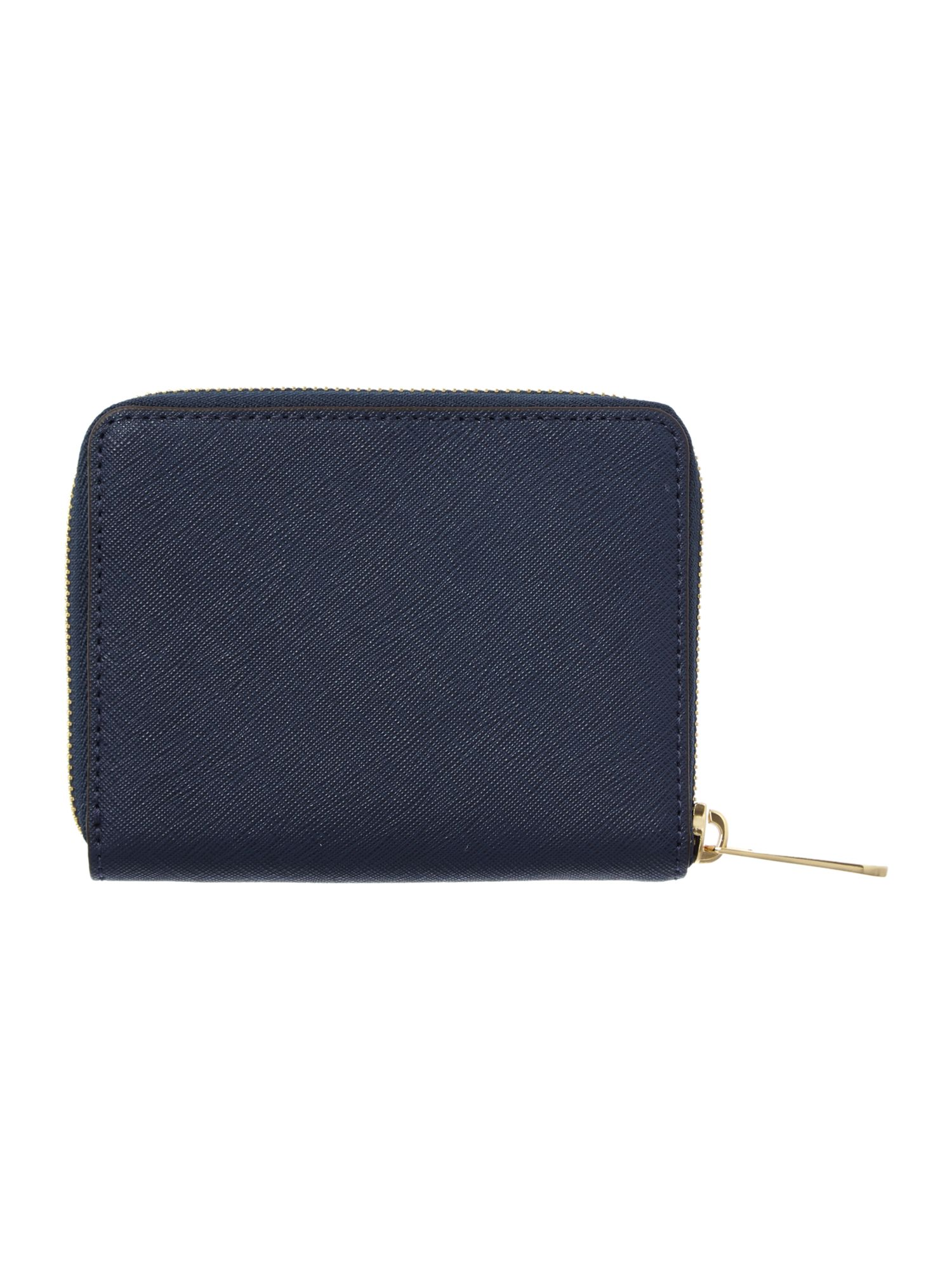 Jet Set Travel navy medium zip around purse
