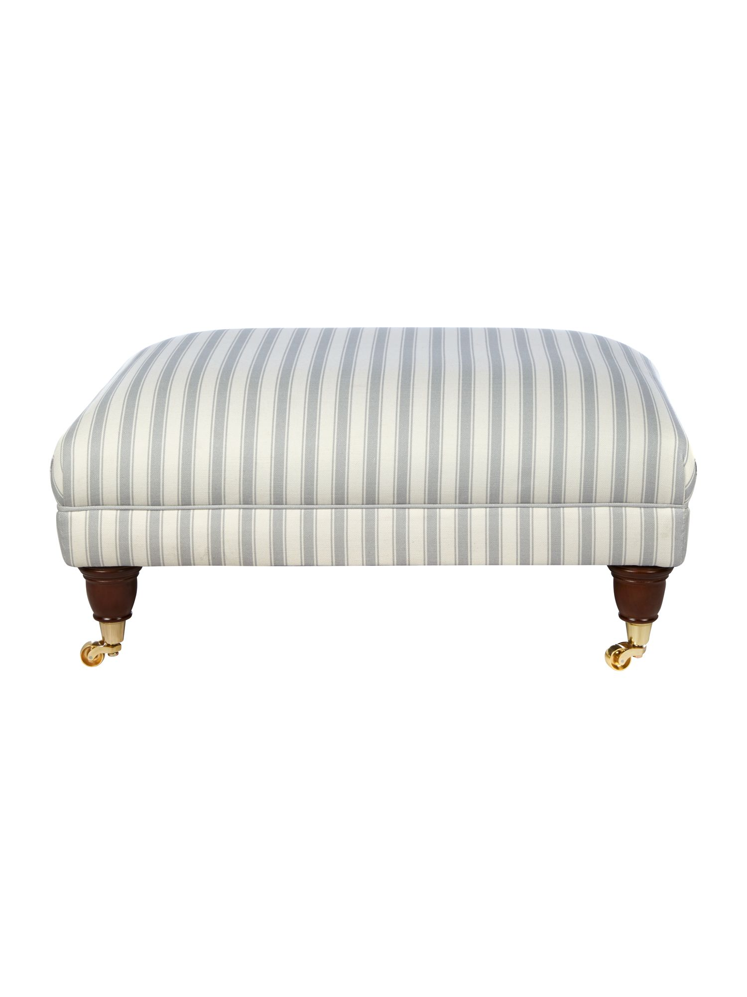 Wiltshire grey stripe banquette stool