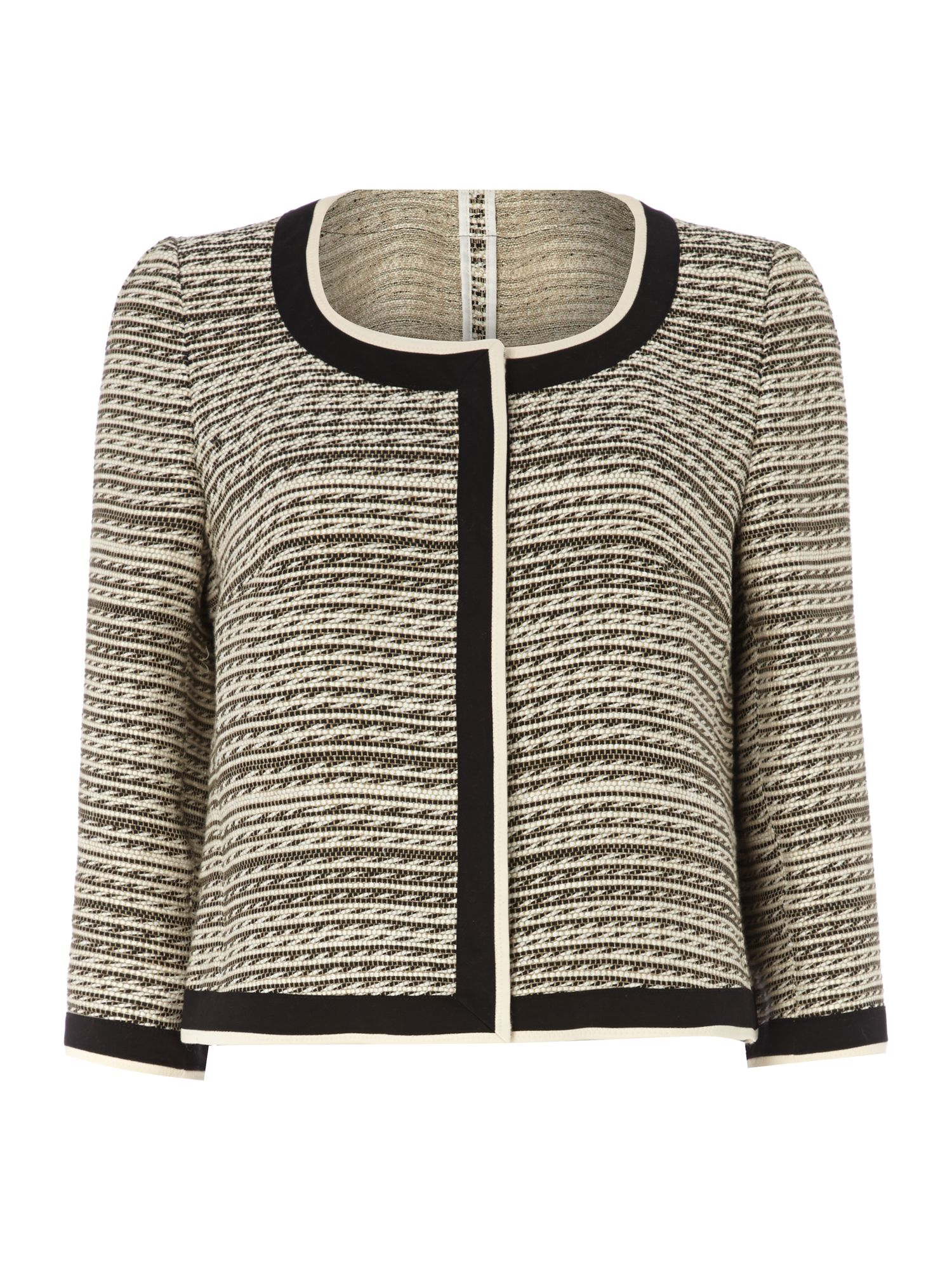 Boucle striped jacket