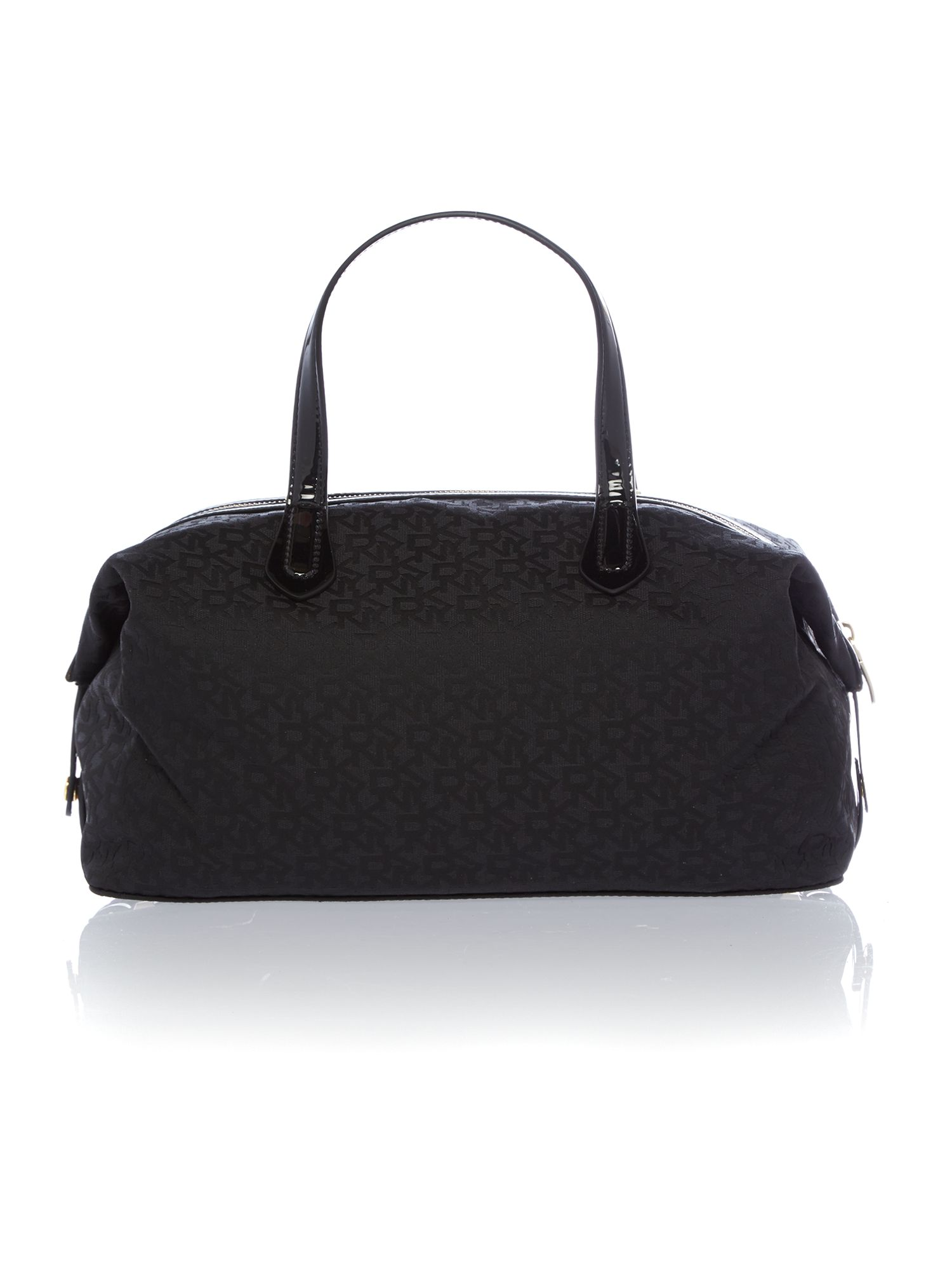 Heritage patent black tote bag