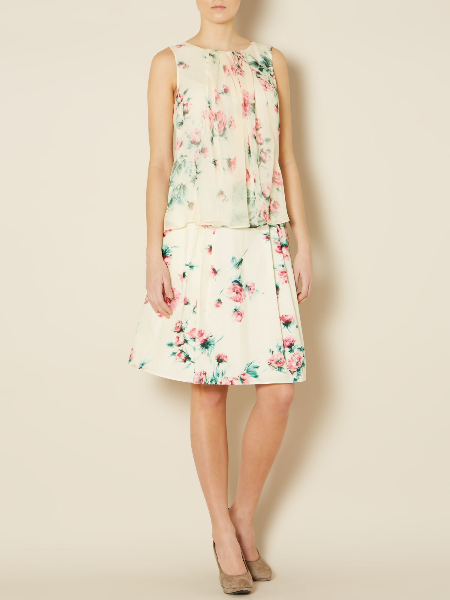 Liuto floral print pleated skirt