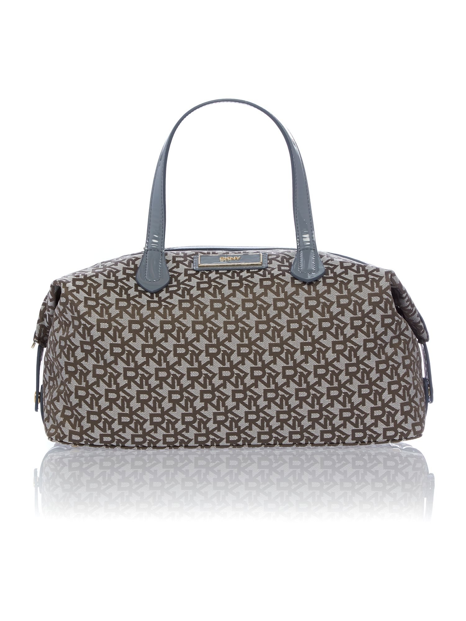 Heritage patent grey tote bag