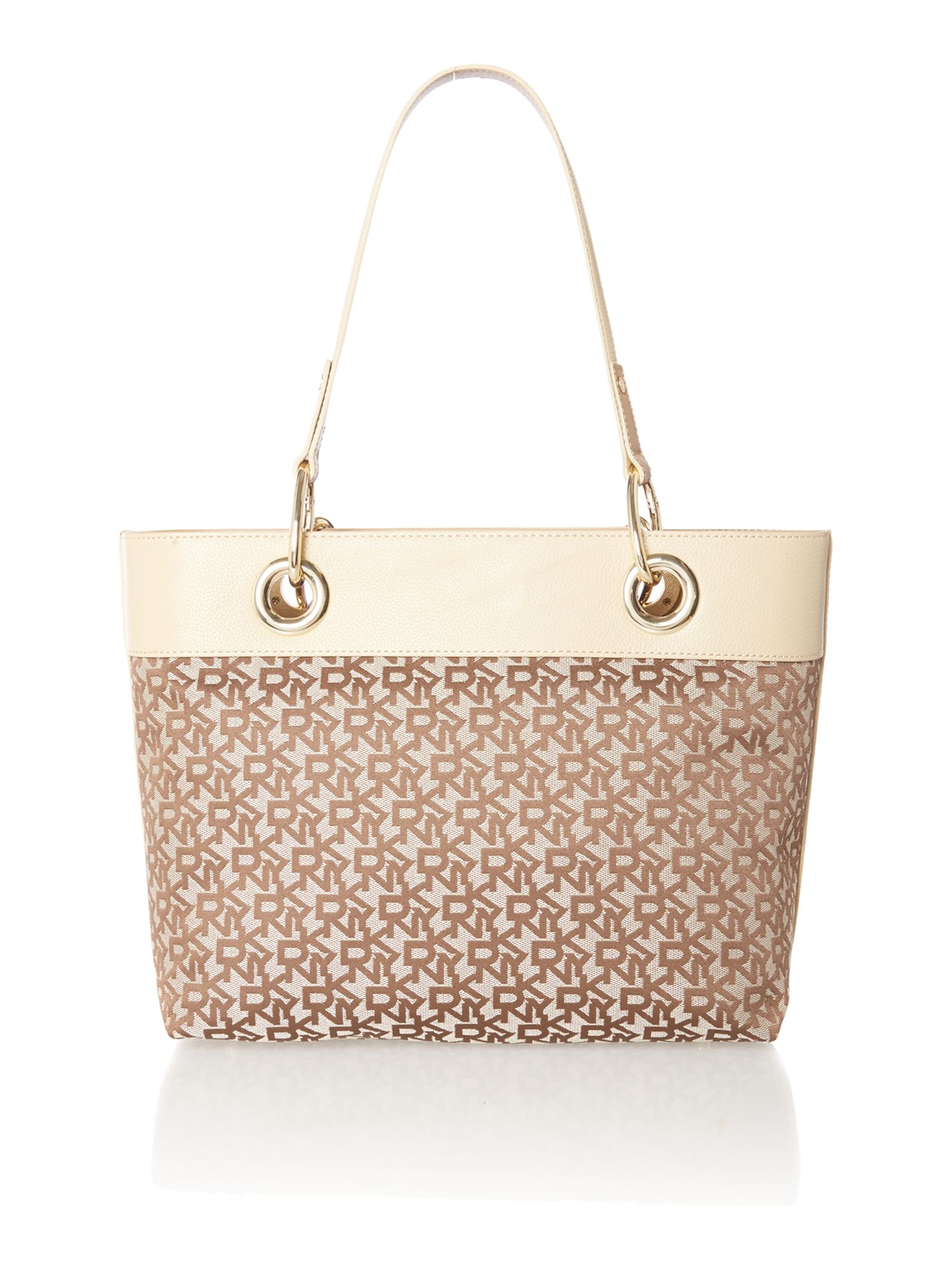 Tan small scraf tote bag