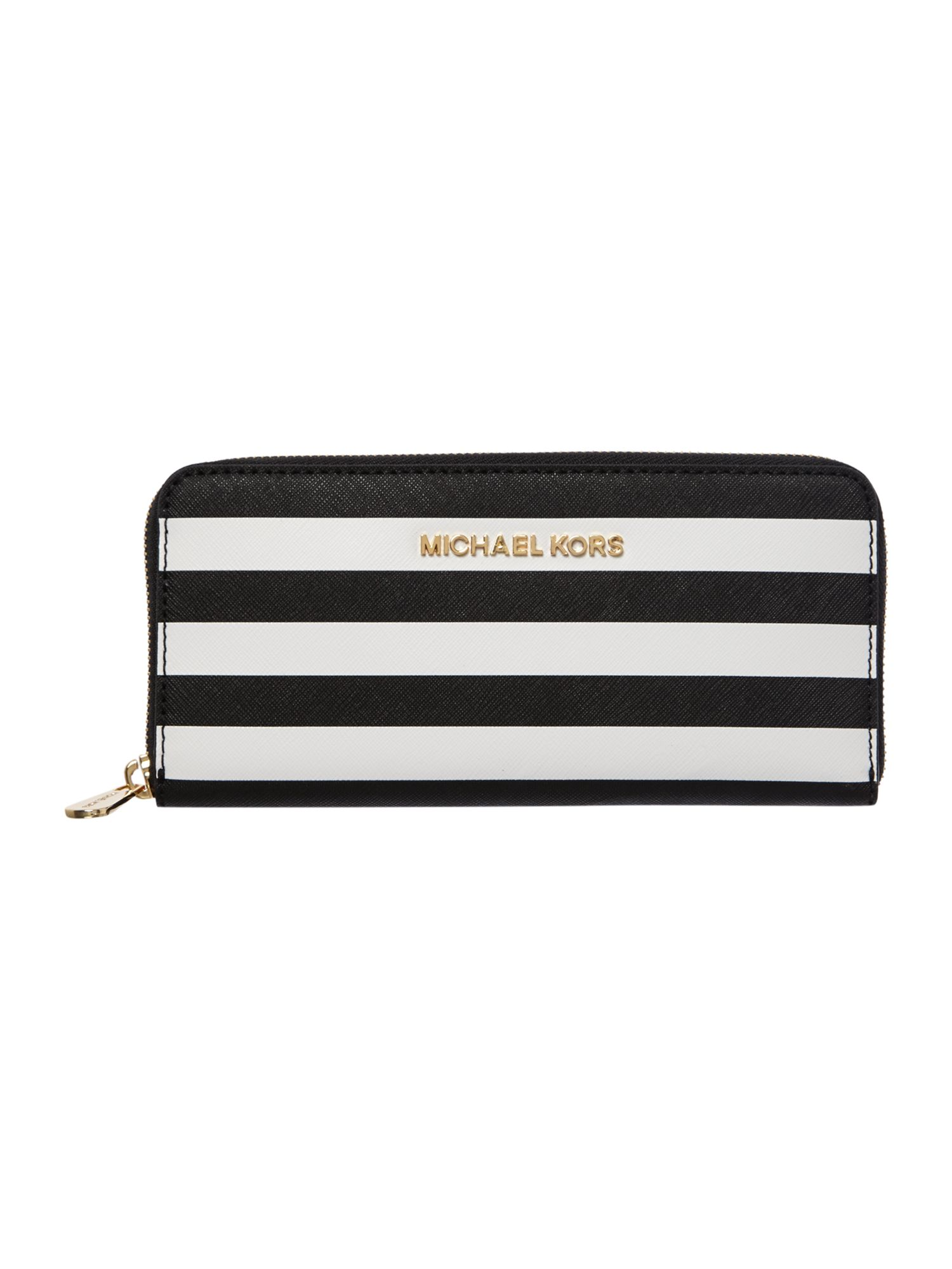 Jet Set Travel multi stripe zip around purse