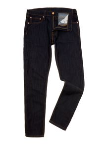 508 indigo wash tapered leg jean
